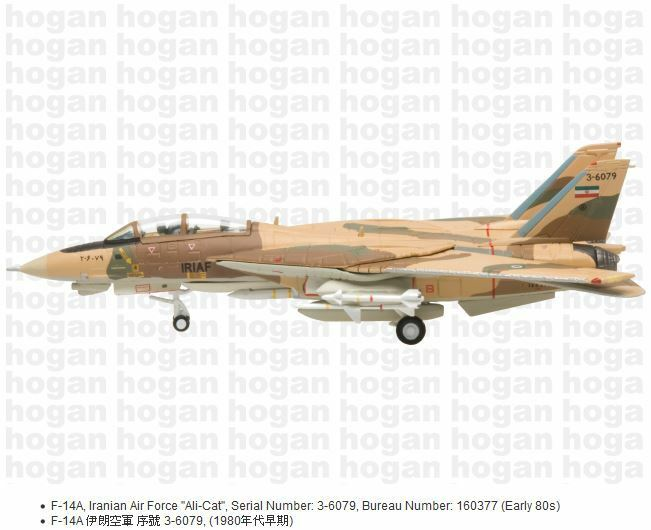 Hogan Wings 6627, F-14A, Iranian Air Force    Ali-Cat , Serial Number  3-6079, Bur 1c4353