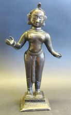 Fine Antique Indian Bronze Sculpture of a Female Diety  c. 1850  Asian Goddess