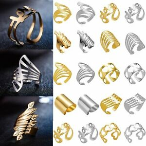 Elegant-Love-Knuckle-Ring-Men-Women-Gold-Silver-Open-Cuff-Ring-Band-Jewelry-Gift