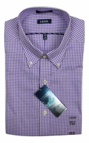 Mens Shirt IZOD Slim Fit Pure Cotton Cool FX Long Sleeve