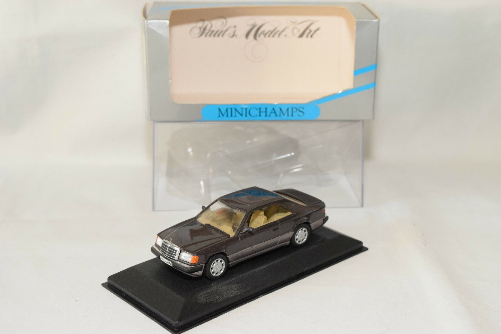 . MINICHAMPS MERCEDES BENZ 300 CE-24 COUPE BORNITE BROWN MINT BOXED RARE SELTEN