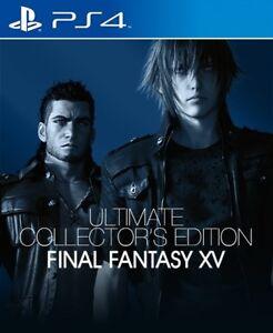 PS4-Final-Fantasy-XV-Ultimate-Edicion-de-Coleccionistas-Nuevo-Sellado-De-Fabrica-Con-Postales