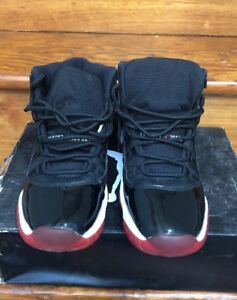 968569c67f48 Nike Air Jordan Retro 11 Bred Size 7 Preowned Missing Insoles