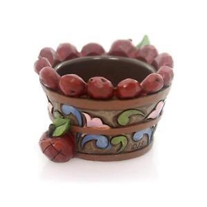 Jim-Shore-Heartwood-Creek-Apple-Basket-Tealight-4053859b-RETIRED-NEW