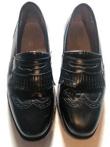 JOHNSTON-amp-MURPHY-Men-039-s-Penny-Loafers-Shoes-Black-Leather-Dress-Slip-On-Size-9D