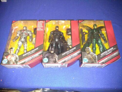 """DC Multi-Univers Justice League LOT DE 3 BATMAN CYBORG Parademon 6/"""" Figures new in box"""