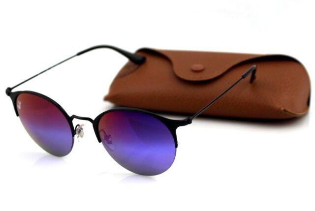 b364a939ac8 NEW Geniune RAN-BAN Black Blue Violet Gradient Mirror Sunglasses RB 3578 186  B1