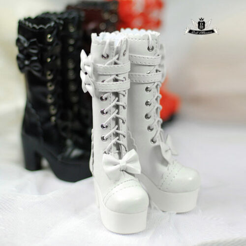 1//4 BJD Boots MSD Shoes Supper Dollfie Boots Luts AOD DOD MID white High heels