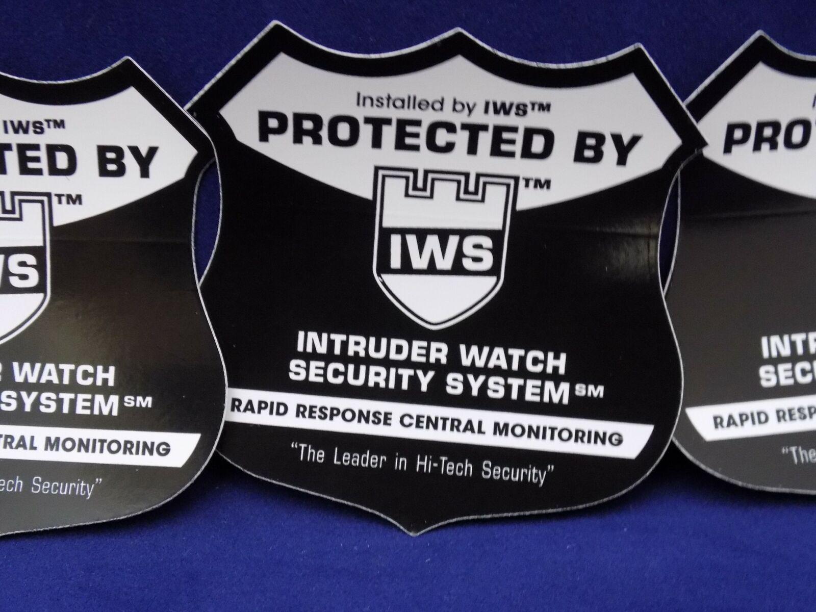 14 IWS Home Security Alarm Stickers UV Alarm Stickers Windows & Door Placement