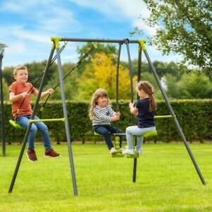 2 unités de balançoire et de bascule pour enfants aire de jeux extérieure pour enfants s'amusent au jardin
