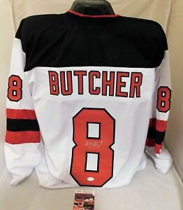 best authentic 0bbfc 1d10f Details about Will Butcher New Jersey Devils Signed / Autographed Custom  White Jersey JSA COA