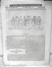 ANTICA STAMPA INCISIONE 1844 Danza delle Muse Eloisa Arlemonte Sobieski Lazienki