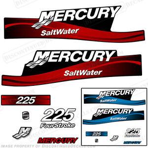 Ambitieux Mercury 225hp 4-stroke Hors-bord Autocollant Kit,bleu/rouge 225 Quatre-temps