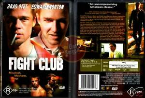 fight club dvd  FIGHT CLUB Edward Norton Brad Pitt Meat Loaf NEW DVD R4 ...