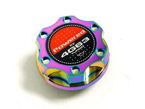 neo chrome billet cnc racing engine oil filler cap