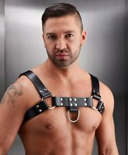 STRICT LEATHER ENGLISH BULLDOG CHEST HARNESS adult men male costume goth black