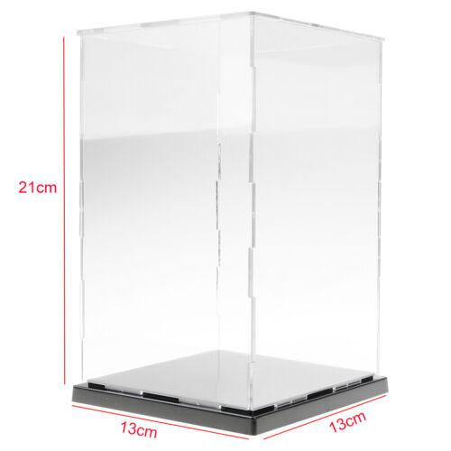 Figuren Modell Transparent Display Vitrine Kleine Acrylbox 13x13x21cm