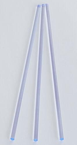 "2 Pc 3//8"" DIAMETER CLEAR BLUE FLUORESCENT ACRYLIC PLEXIGLASS LUCITE ROD 16"" LONG"