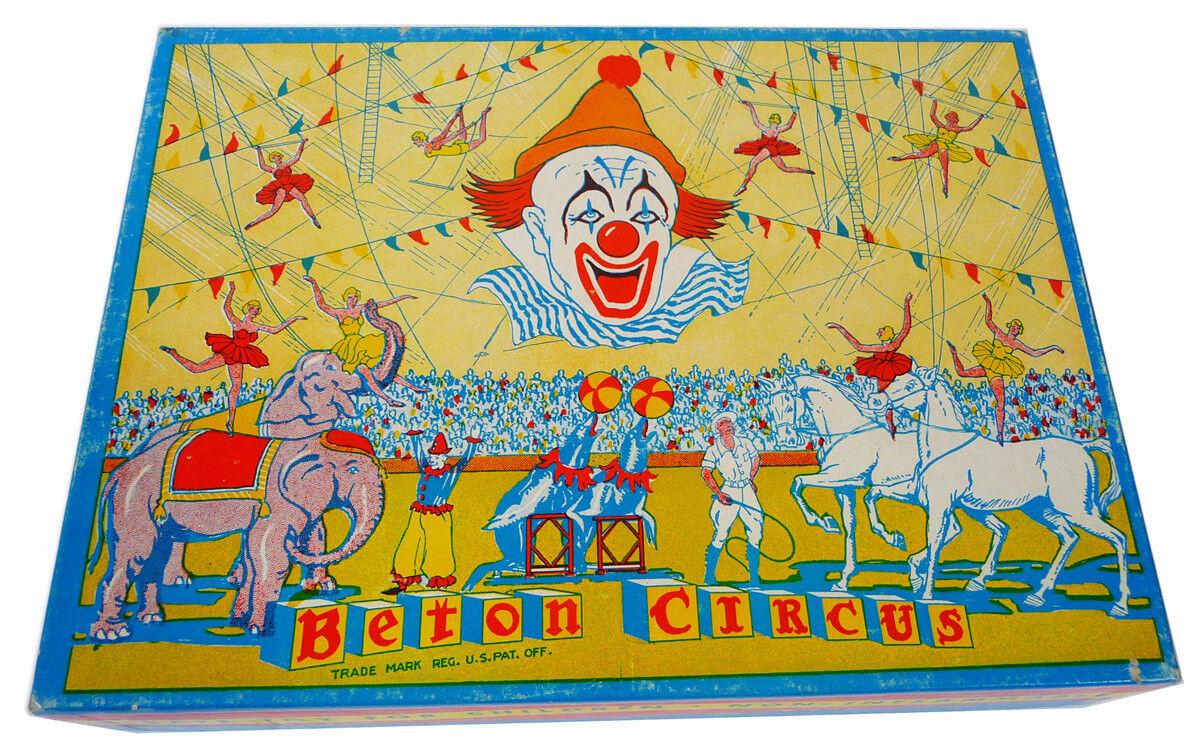 Vintage Beton Circo (594ms) Bergen Juguete & Novedad Co S Circo Animales Z-250