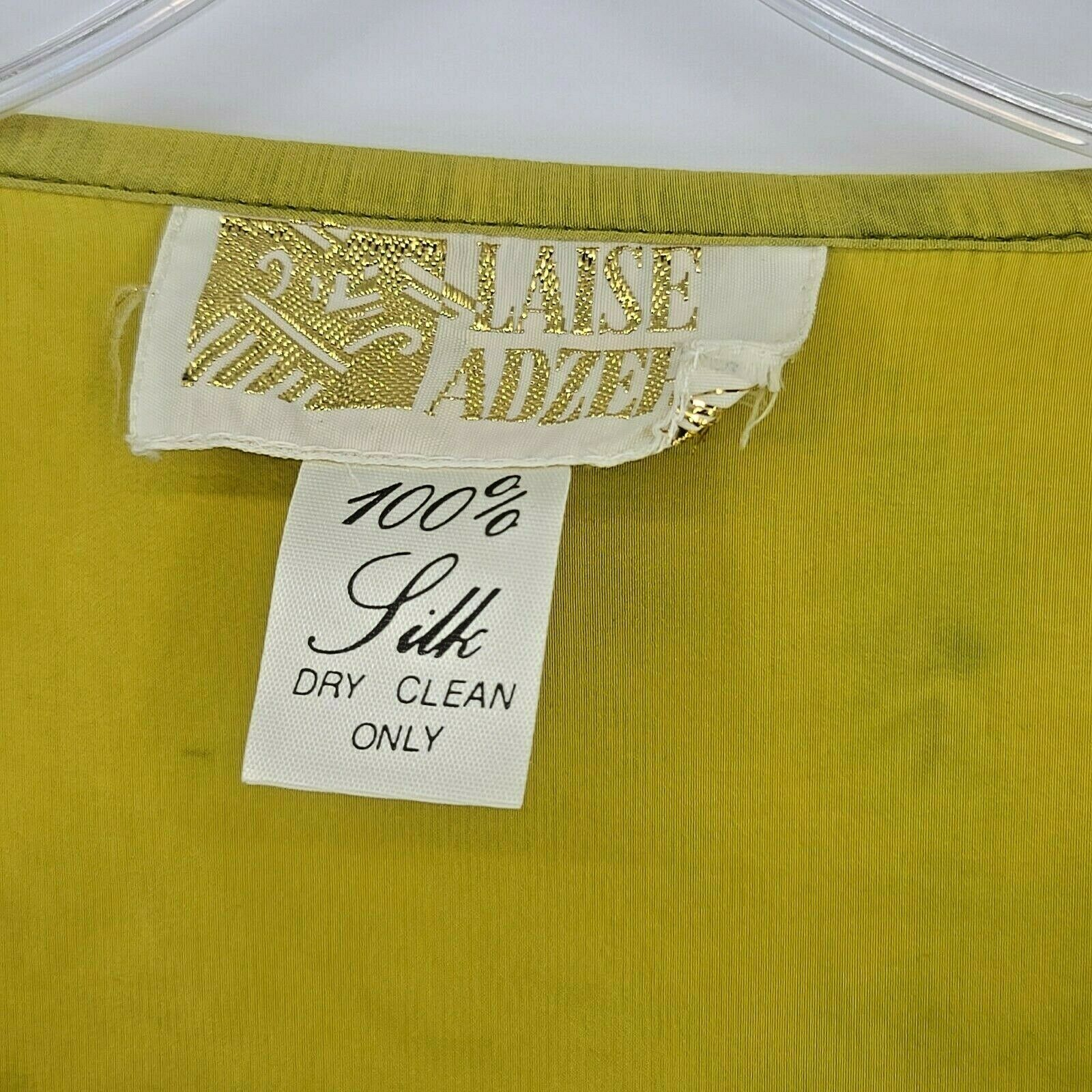 Laise Adzer Womens Vintage 1980's Hand Painted Si… - image 12