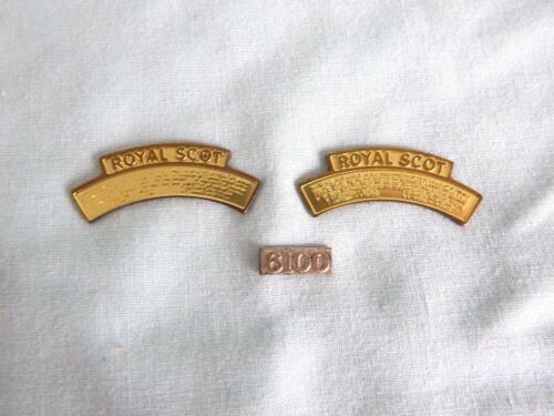 Original Bassett-Lowke Cauge 0 Rebuilt Royal Scot Pair Nameplates /& Numberplate