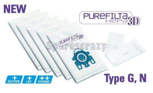 Purefilta Hepa 3D 5 Sacs /& Filtre set to fit pour aspirateur miele type g n allervac capteur 5000