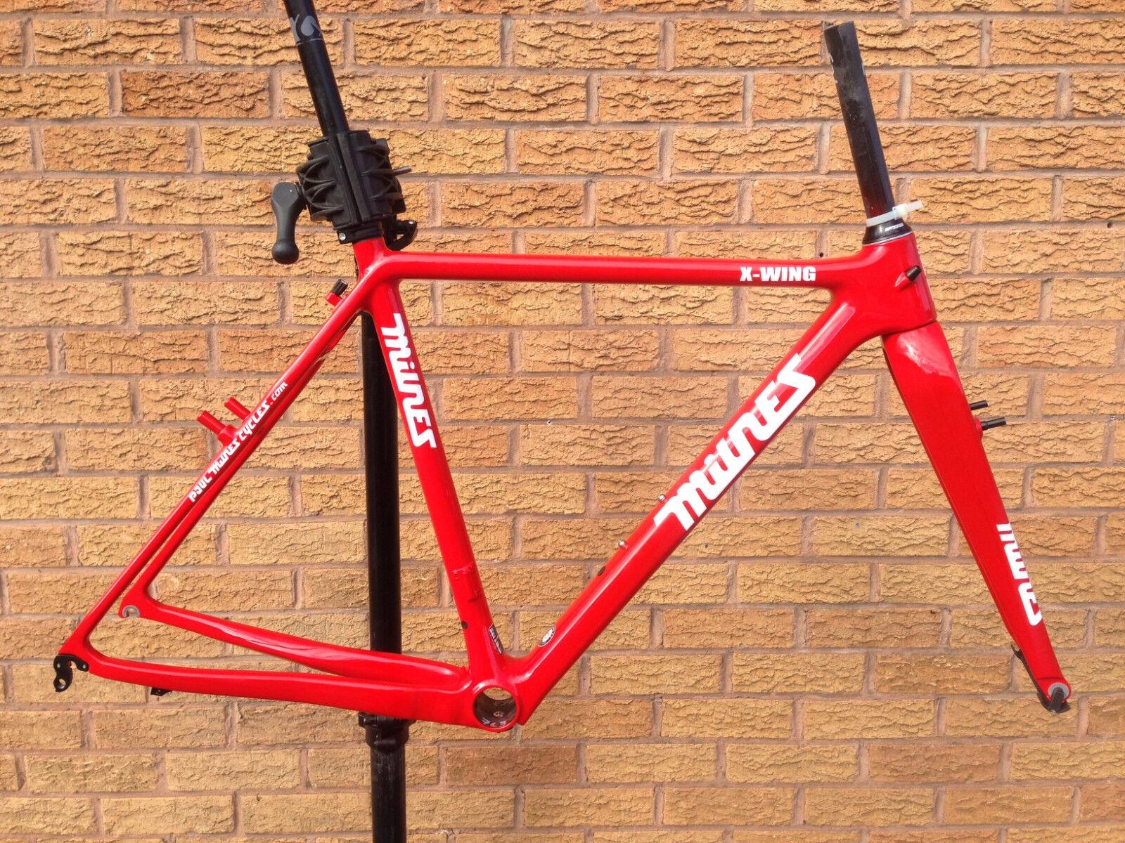 Paul Milnes XWing CARBONIO Cyclocross BICI FRAMESET Lieder freno CantileverRosso