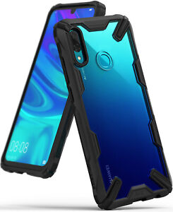 Huawei P Smart 2019 Case, Ringke [Fusion-X] Clear PC Back TPU Bumper Protection