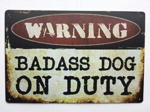 Beware-Of-Dog-Sign-Warning-12-x-8-Inch-Metal-Decor-Funny-Animal-Sign
