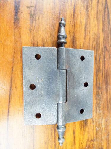 "Vintage Solid Metal Door 3/"" Hinge Heavy Duty Decorative Antique Grey Hardware"