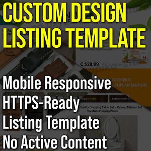 eBay Listing Template HTML Mobile Responsive Custom Design 2021 Professional