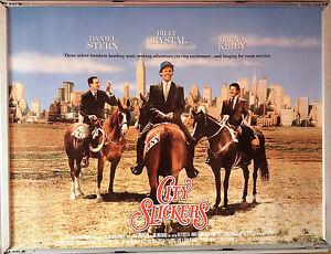 Cinema Poster City Slickers 1991 Advance Quad Billy Crystal Jack Palance Ebay