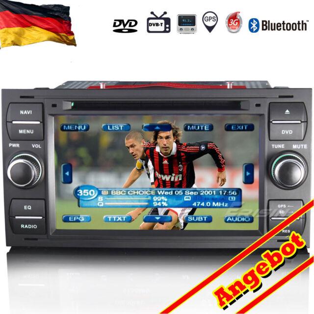 "7"" Autoradio DVD GPS DTV-Ein Ford C/S-Max Mondeo Kuga Galaxy Fiesta Fusion 7301D"