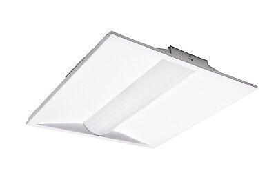 2 x 4/' LED Center Basket Troffer Lighting Low Profile 40 Watt DLC Premium USA