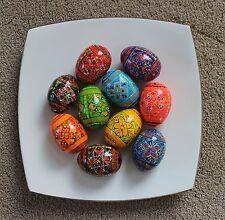 10 Wooden Painted Ukrainian Easter Eggs Pysanka Pysanky Pisanki Chicken Size