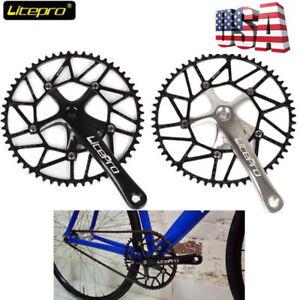 Litepro-Ultralight-Hollow-130BCD-50-58t-Bike-Crankset-Chainring-170mm-Crank-Set
