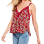 miniature 1 - Free-People-Infinite-Love-Lace-Trim-Sleeveless-Top-Floral-Multi-Size-XS-New-2762