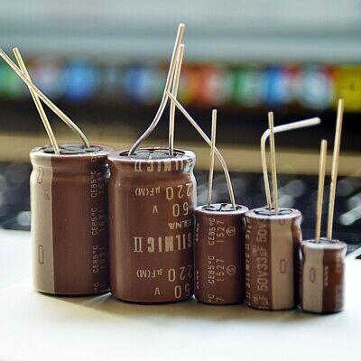 6 or 12 pcs Nichicon KA Capacitors 50v 22~3300uf Audio Grade 105°C