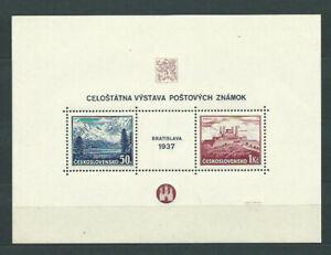 Tschechoslowakei - Blätter 1937 Yvert 3 ( ) Mng