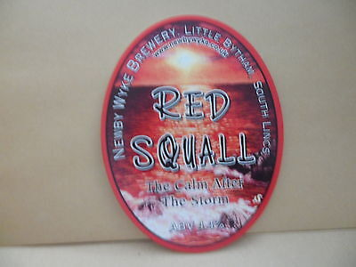 Bier & Brauerei Verantwortlich Newby Wyke Rot Squall Ale Bier Pumpe Clip Face Bar Sammlerstück 53 Sammeln & Seltenes