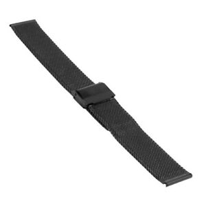 Uhrenarmband-Milanaise-Mesh-Hohe-1-9-mm-Breite-20-mm-schwarz