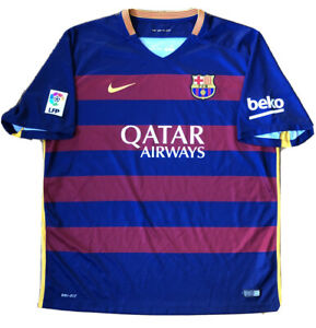 FC BARCELONA 2015 2016 NIKE HOME SOCCER FOOTBALL JERSEY CAMISETA MENS XL