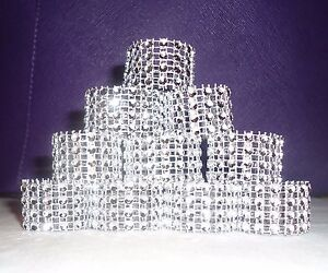 image is loading silver bling rhinestone napkin rings lot of 10