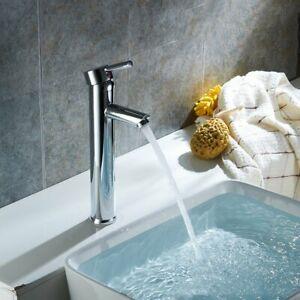 Basin-Faucet-Single-Lever-Bathroom-Basin-Tall-Mixer-Tap-Deck-Mounted-Chrome