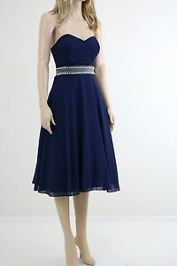 TFNC-WEDDING-Navy-Embellished-Waist-Prom-Mini-Cocktail-Dress-UK-SIZE-8