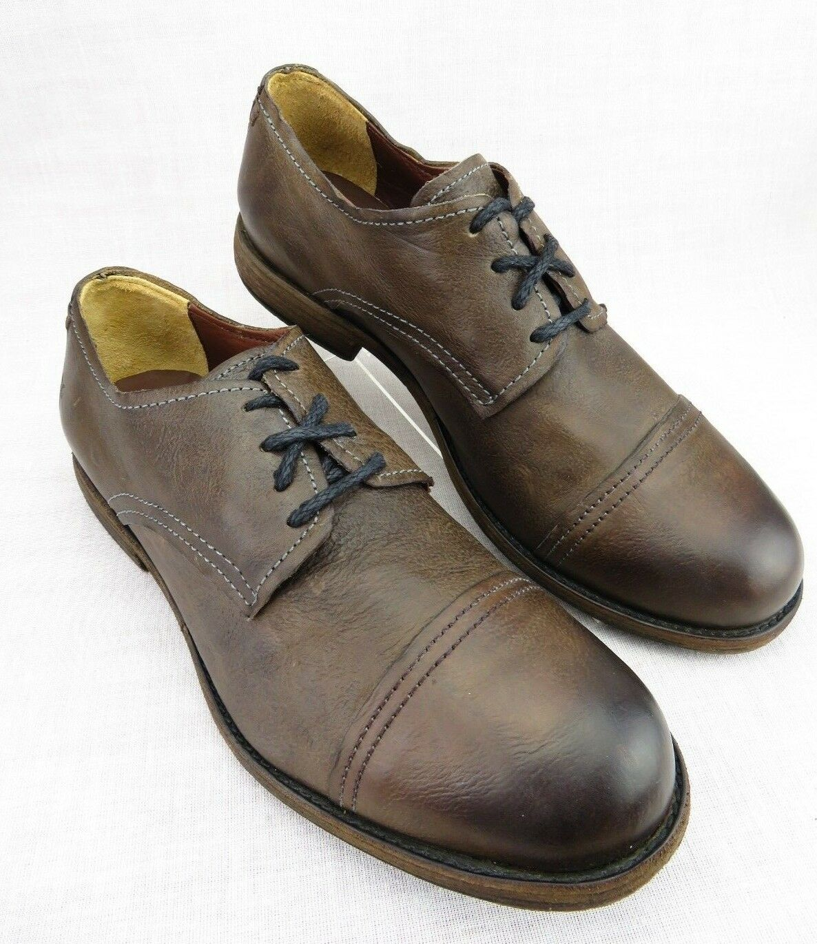 Frye Johnny Brown Leather Lace Casual Cap Toe Oxfords Men's 11 D 84565