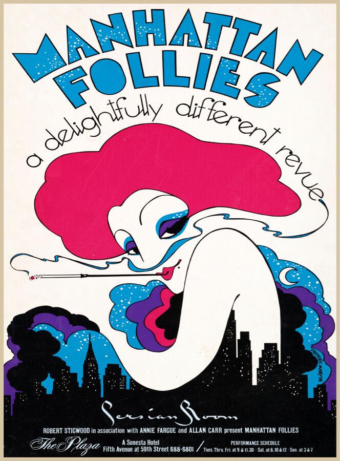Choose Paper or Canvas POSTER.Manhattan Follies.Home room decor print.q429