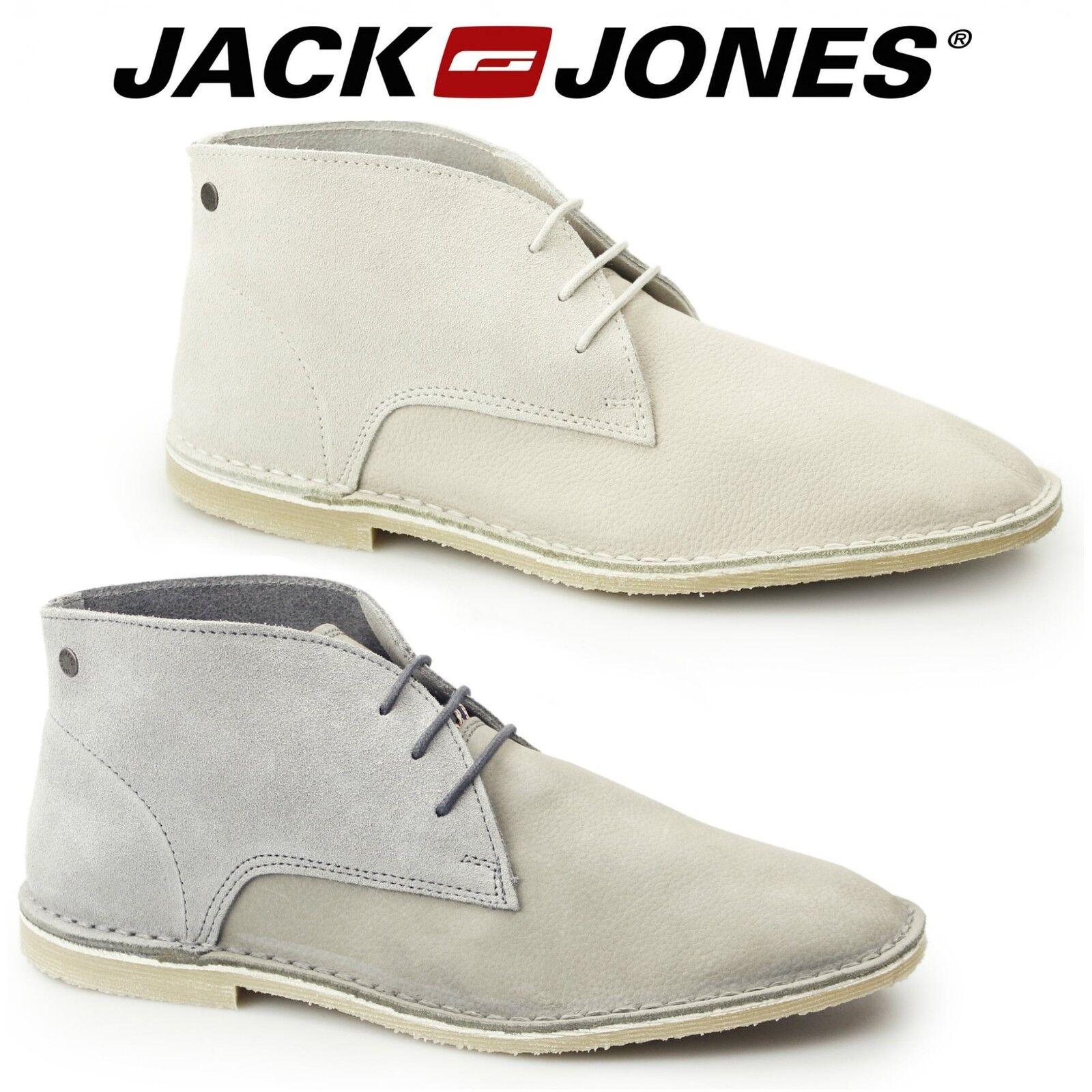 Jack & Jones DAMON Mens Suede Nubuck Leather Lace Up Casual Comfy Desert Stiefel