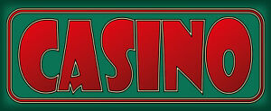 Casino Metal Shield Tin Sign Shield Arched Metal 10 X 27 CM K2011
