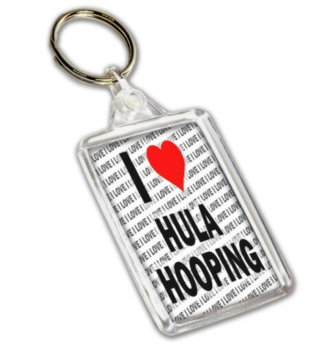 Gift I Love Hula Hooping Christmas Keyring Birthday